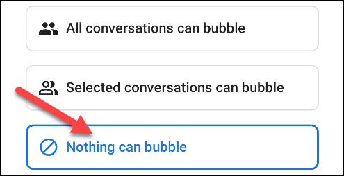 elegir nada puede burbujear