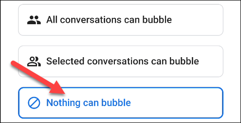 choose nothing can bubble