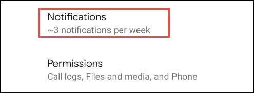 seleccionar notificaciones
