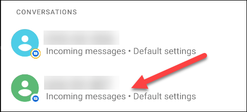 select a conversation to remove