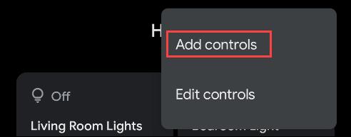 select add controls