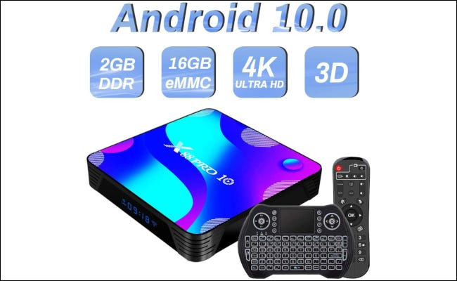 An android TV set-top box.
