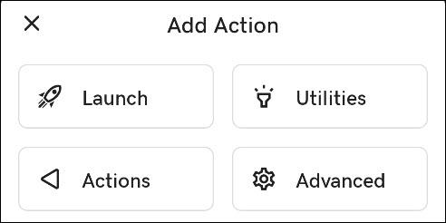 categorías de acción