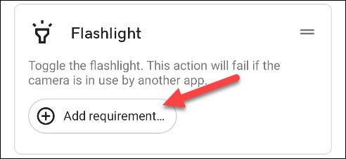 tap add requirement