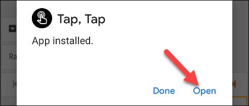 abre la aplicación tap tap