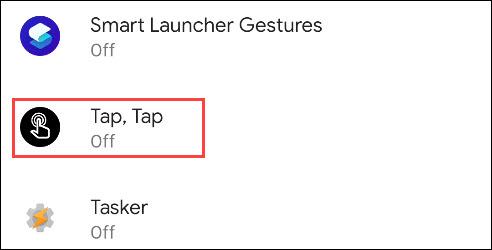 select tap, tap
