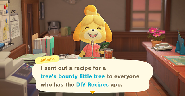 animal crossing new horizons tree bounty diy recipe
