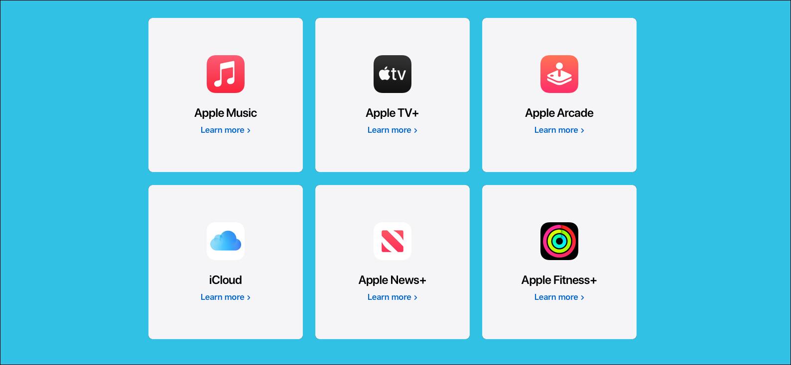 An Apple One bundle, including Apple Music, Apple TV+, Apple Arcade, iCloud, Apple News+, and Apple Fitness+.
