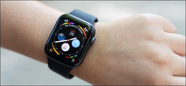 An Apple Watch Series 4 on a woman's wrist.
