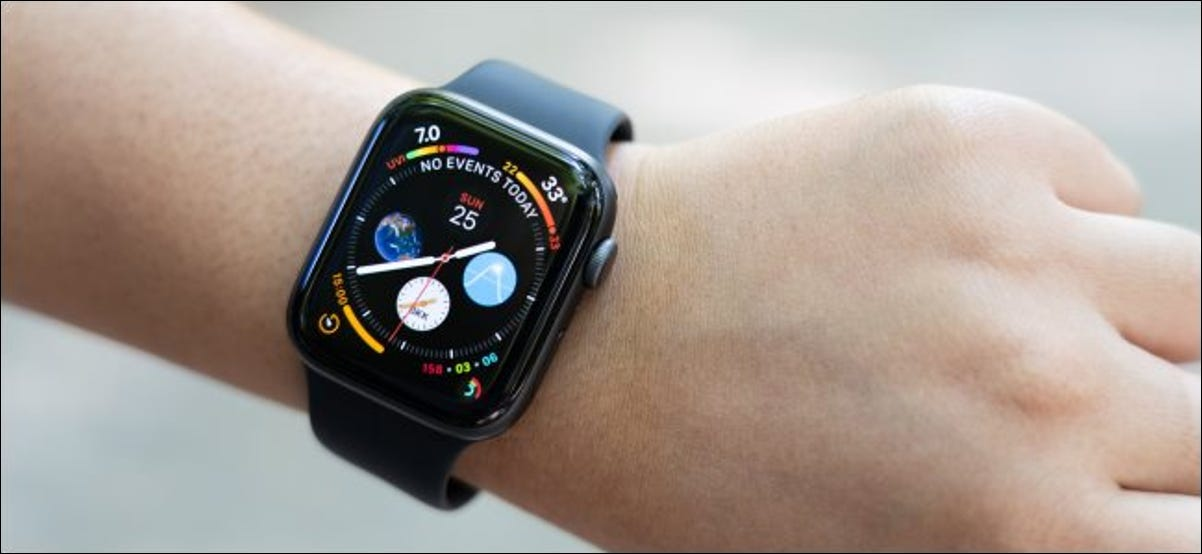 An Apple Watch Series 4 on a woman's wrist.