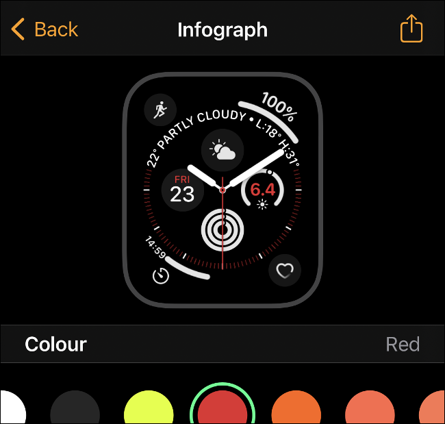 Share an Apple Watch face