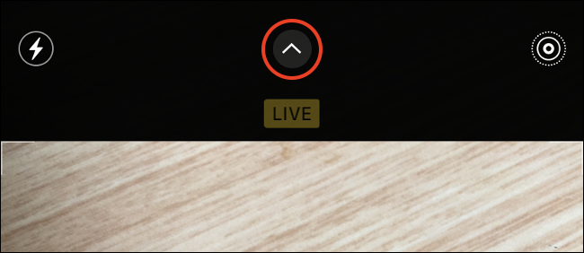 iPhone Camera Settings Menu Button