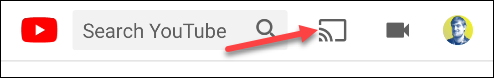 Tap the Chromecast icon.