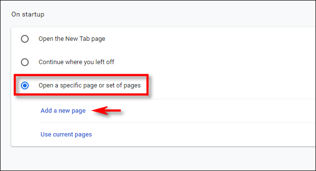 "In Chrome settings, click ""add page."""