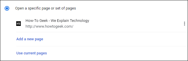 Examining the Startup page you've added to Google Chrome settings