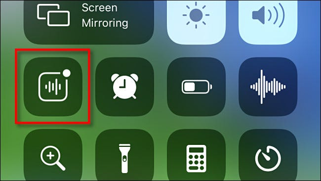 Sound Recognition Control Center shortcut