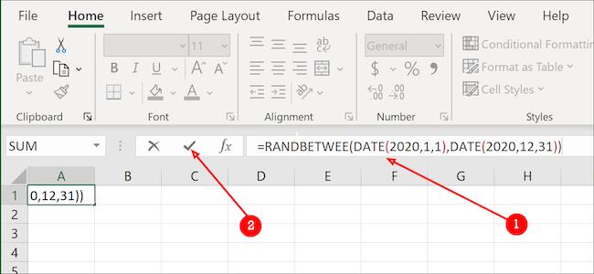 Excel date formula