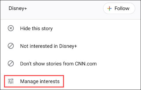 tap manage interests