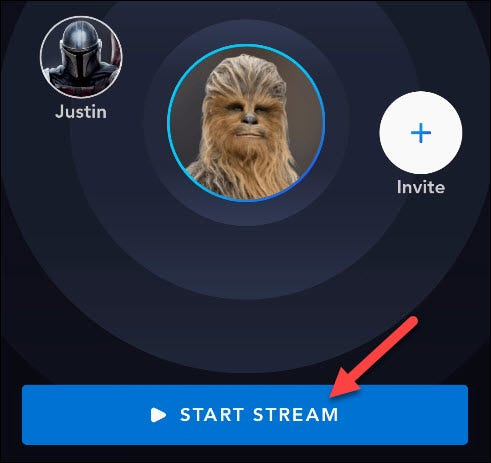 click start stream