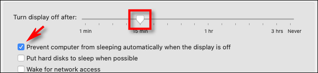 In Energy Saver Preferences on Mac, set the display sleep time on the slider, then check the box below.