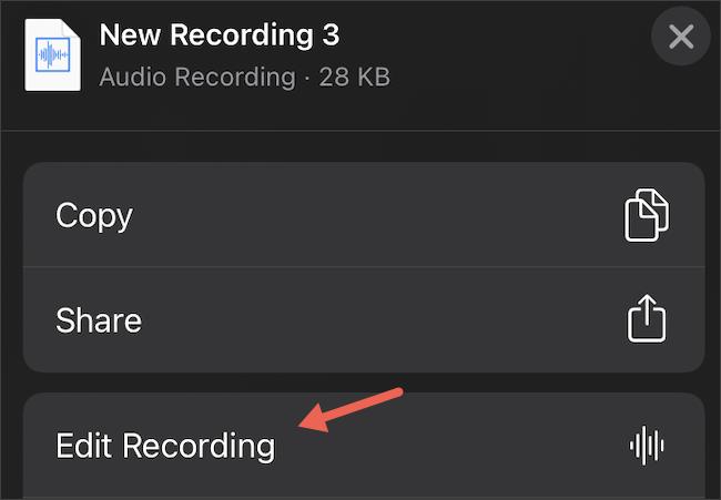 Edit Voice Memos on iPhone