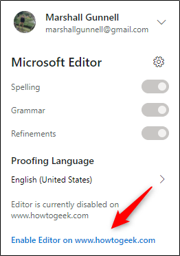 enable editor for howtogeek