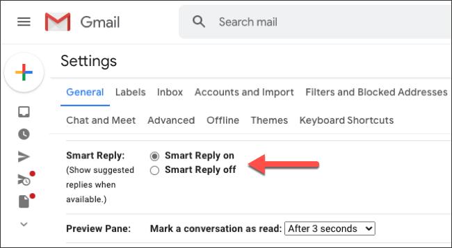 """Haga clic en el botón de opción junto a """"Respuesta inteligente activada""""."""
