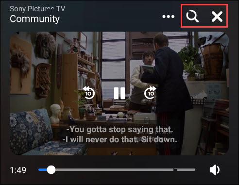 video control options