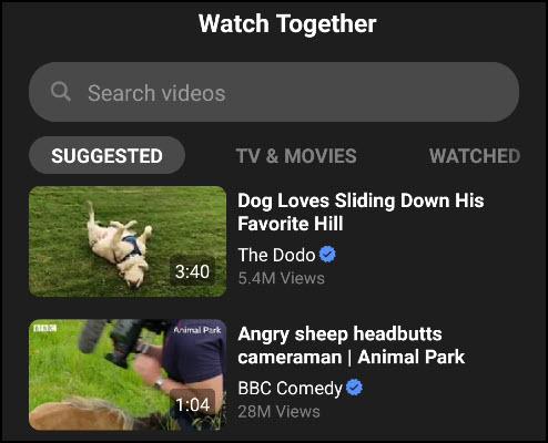 watch together videos