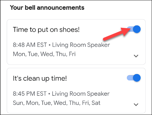 enable or disable announcements