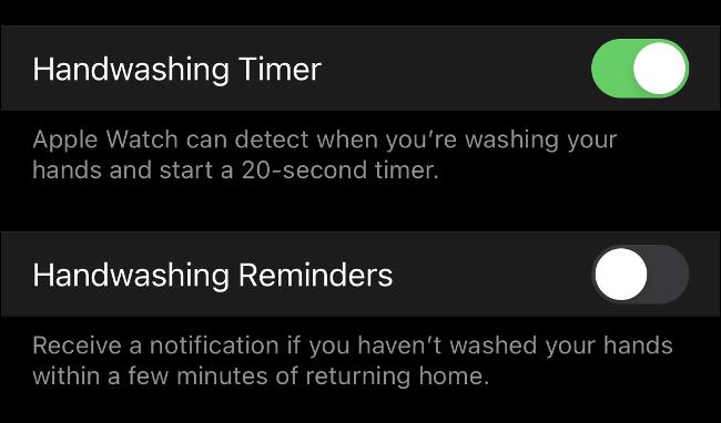 Handwashing Complete in watchOS 7