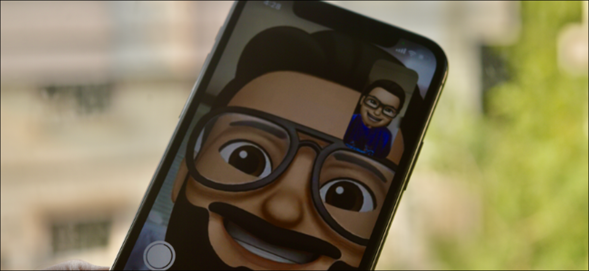 iPhone User Using Memoji During FaceTime Call