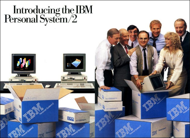 An ad for the IBM OS/2 in a magazine.