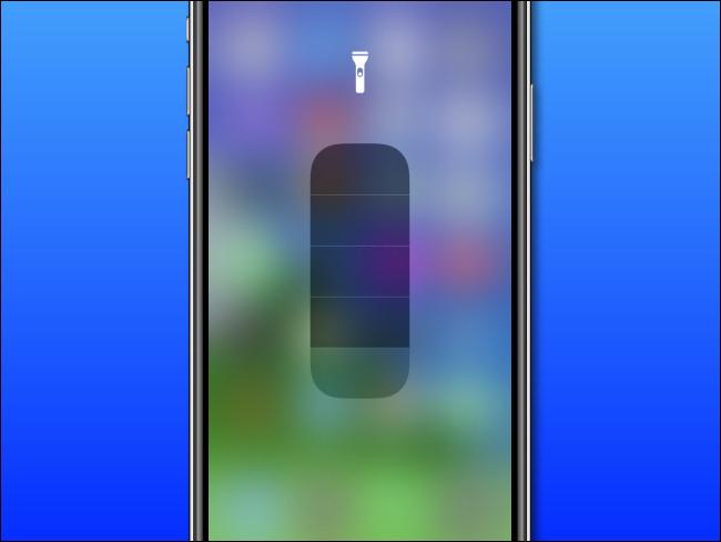 The iPhone Flashlight adjustment slider