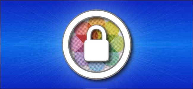 Un candado en la parte superior del ícono de la aplicación Apple Photos.