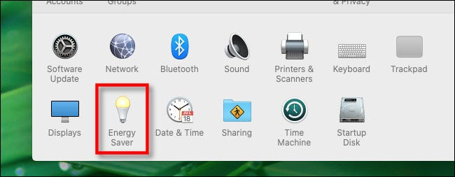 In Mac System Preferences, click Energy Saver.