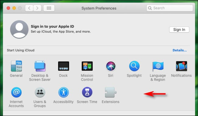 A preference panel has been hidden in System Preferences for Mac.