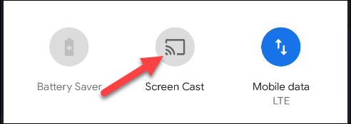 """Select the """"Screen Cast"""" button"""