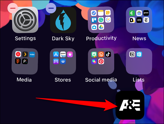Move your finger and then the app icon will appear on your home screen
