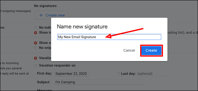 Type a name for your signature
