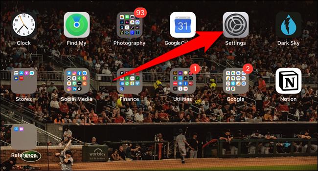 "Open the ""Settings"" app"