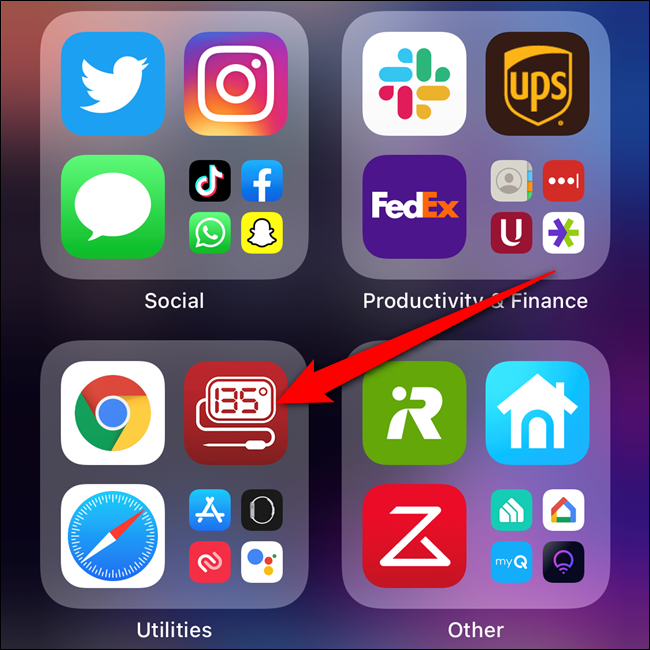 Press and hold on an app in the App Library