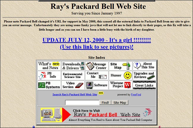 Ray's Packard Bell Web Site on GeoCities.