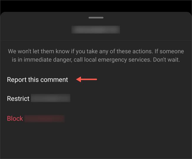Informar comentarios ofensivos en Instagram