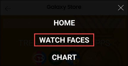 """Select """"Watch Faces"""""""