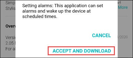"""Select the """"Accept and Download"""" button"""
