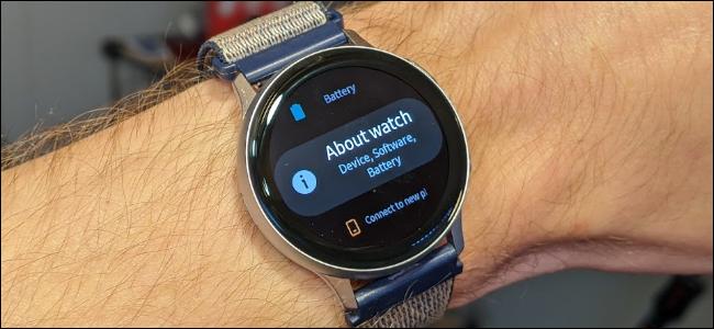 "samsung galaxy watch ""about watch"" screen"