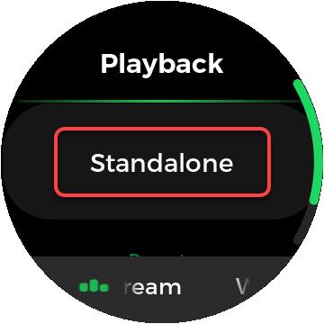cambio de aplicación de reloj spotify a independiente
