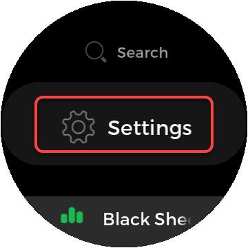 configuración de la aplicación de reloj spotify