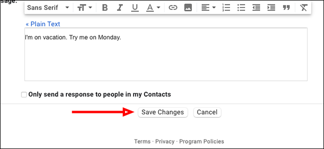 """Click """"Save Changes"""""""